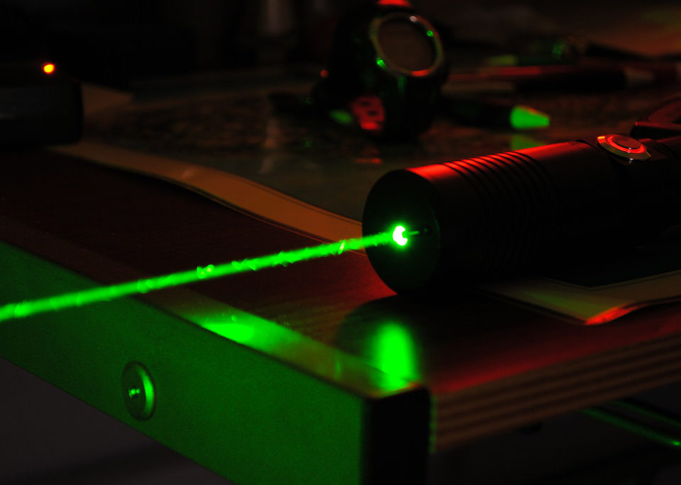 using a laser pointer in your presentation